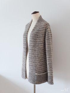 BeauB Cardigan by La Maison Rililie Designs: FO by SiO2 on ravelry. #knitting #pattern #knitindie