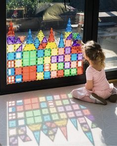 Magnetic Tiles- Playmags, Children Hub or Connetix? - Inspire my Play Toddler Learning Activities, Indoor Activities, Infant Activities, Preschool Activities, Kids Learning, Toddler Play, Baby Play, Toddler Crafts, Crafts For Kids