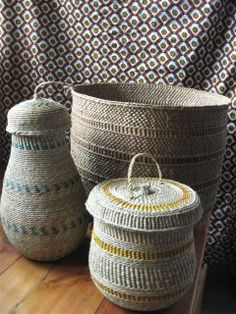 African Baskets; New Designs | Cindy Aplanalp.... By Design Interiors