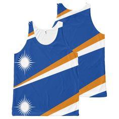 Flag of Marshall Islands All-Over Print Tank Top