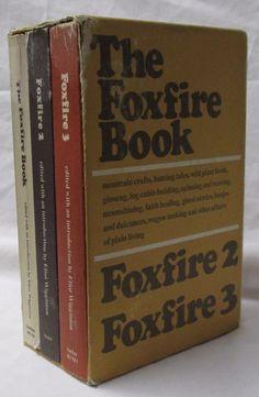 The Foxfire Book Volumes 1, 2 and 3, Box Set, Eliot Wigginton #FoxfireBooks