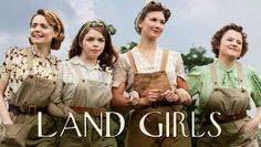 """""""Land Girls"""" - A period drama set on a farm in the English countryside during World War II. No washing machines, no dishwashers, no nothing but hard work. Catch the series on Netflix. Land Girls, Period Movies, Period Dramas, Movies Showing, Movies And Tv Shows, Titanic, Movies To Watch, Good Movies, Women's Land Army"""