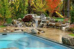 Natural Backyard Waterfall