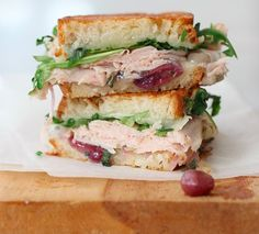 1. Turkey & White Cheddar w/ Caramelized Onion And Grape Grilled Cheese, 2. Monte Cristo Waffle Sandwich, 3. Cobb Salad Sandwich, 4. Hot Turkey Sammie, 5. The Gobbler, 6. Turkey Grilled Cheese Sandwich w/ Pickled Onions, 7. Thanksgiving Leftover Panini, 8. Turkey Banh Mi, 9. Double Grilled Cheese & Turkey Sandwich, 10. Grilled Brie, Turkey, Cranberry & Avocado Sandwich, 11. Turkey, Cranberry & Cream Cheese Sandwich