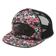 47ea3290f5d The Beach Girl Trucker is a polyester mesh-back trucker cap with all-over  floral print