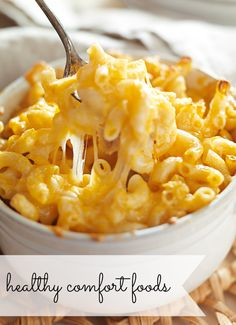 Healthy mac and cheese? Yes please! I'm sharing my FAVORITE healthy comfort food recipes. Eat what you love and be healthy at the same time.