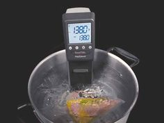 Sous vide is vacuum- packed raw product cooked in a low-temp water bath. - Photo courtesy of PolyScience and Bergonia Photography