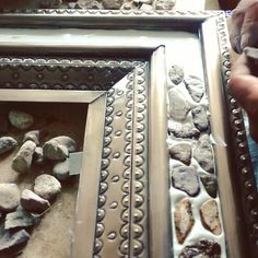 Punched #tinmirrors are #rusticahouse speciality. Our mirror frame workshop is located San Miguel de Allende which is a capital of world punched tin home decor production.