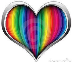 WHAT A PRETTY HEART OF MANY COLORS.