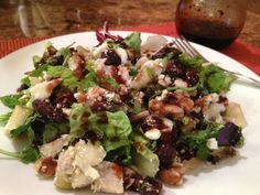 Harvest Turkey Salad with Cherry Vinaigrette - Can't Stay Out Of The Kitchen