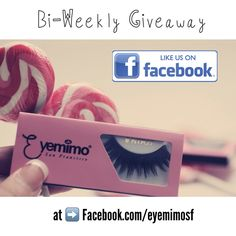 Bi-Weekly #giveaway is going on our FB page. Please go to www.facebook.com/eyemimosf for detail.