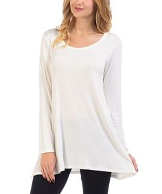 Ivory Scoop Neck Tunic