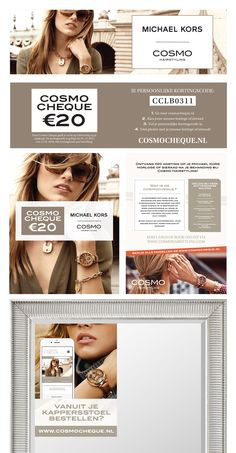 Cosmocheque designs for online and offline use