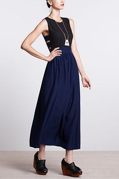 cut-out black and navy maxi dress
