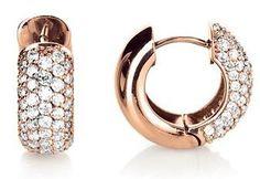 "Glamorous ""Aprica"" diamond earrings in rose gold #yorxs #diamanten #diamantohrringe #glamourös"
