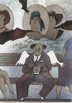 Adolf Born. República Checa Michael Sowa, Dark Stories, Gustave Dore, Theatre Costumes, Animation Film, Folk Art, Modern Art, My Arts, Cartoon