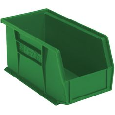 You are buying one pack of 12 new Akro-Mils Plastic bins model number 30240.  These bins do not come with lids.  These ship in carton quantities of 12 each and Akro-Mils will not break carton quantities.  We have these in red, blue, yellow, stone, semi-clear, green and black (only one color per carton).  These bins do not nest, but they hang on rails.  They are great for parts storage for your business or your shop at home.