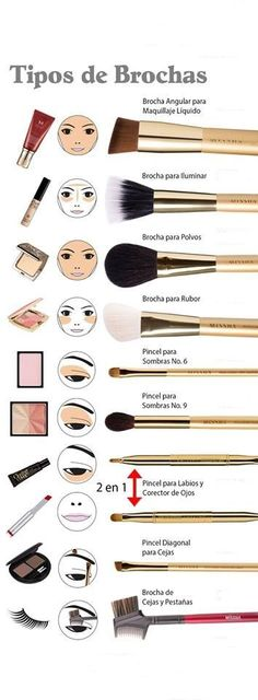 There are a lot of people who nowadays are applying cosmetics using their fingers, in my opinion it looks a lot better if applied using a make-up brush. This article describes the reasons for this and looks at the types of make-up bru Makeup 101, Makeup Guide, Love Makeup, Diy Makeup, Makeup Inspo, Makeup Tools, Makeup Inspiration, Makeup Brushes, Beauty Makeup