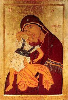 Makarije Zograf. Bogorodica Pelagonitisa. 1421-1422. Skopje, Gallery of Art
