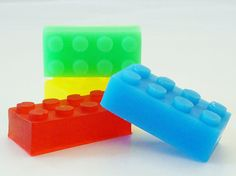 30 BULK LEGO SOAPS- Choose Scent & Color, mini legos, lego friends, diy party favors, boy birthday, natural, kids
