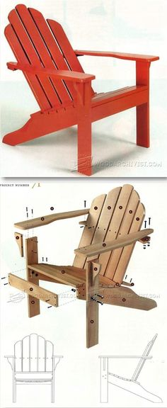 Classic Adirondack Chair Plans - Outdoor Furniture Plans & Projects | WoodArchivist.com #ChairClassic