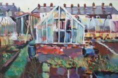 Along the backs - A3 Print £49.00 #allotment #gardening #Folksy #folksy #British #handmade #uk #crafts #art