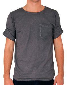 # T-shirt gris délavé Sable http://www.letagehomme.com/t-shirt-gris-delave-sable.html