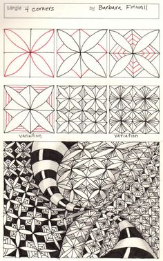 Zentangle - More doodle ideas - Zentangle - doodle - doodling - zentangle patterns. zentangle inspired - #zentangle #doodling #zentanglepatterns