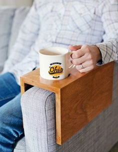 Wooden Sofa Sleeve With Cup Holder - DIY Gift World