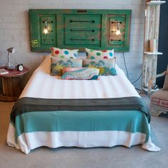 Luxury Bedding Sets On Sale Product Recycled Door, Discount Bedroom Furniture, Headboard Decor, Woman Bedroom, Boys Room Decor, Luxury Bedding Sets, Headboards For Beds, Bed Styling, Repurposed Furniture
