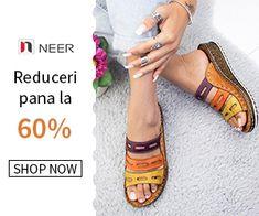 neer.ro Shop Now, Slip On, Marketing, Superhero, Sandals, Shopping, Shoes Sandals, Sandal