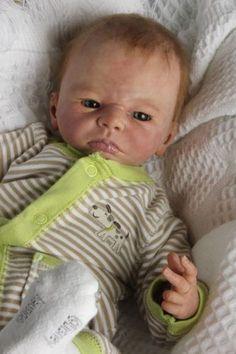 "Beautiful, Realistic, Newborn ""Bruno"" by Karola Wegerich Life Like Baby Dolls, Life Like Babies, Cute Babies, Reborn Baby Boy Dolls, Reborn Babies, Hair Painting, Newborns, Passion, Children"