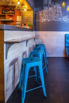 "Restaurant ""Melange"" in London Hotels And Resorts, Bar Stools, Indoor, Restaurant, House Design, Furniture, Home Decor, Bar Stool Sports, Interior"
