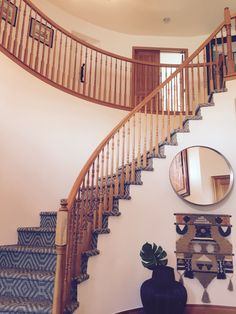 a grand ranch staircase