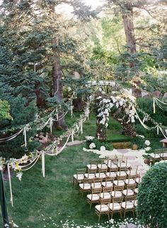 Woodland Wedding Ceremony Ideas