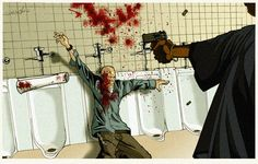 Finnally got this coloured . this is the final piece for my portfolio. American History X
