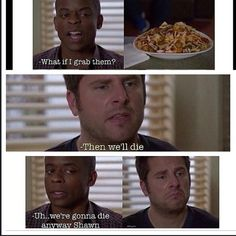 lololol this episode was really funny. but what episodes of psych AREN'T funny? I mean, lets be for realsies. Psych Memes, Psych Quotes, Psych Tv, Tv Show Quotes, Shawn And Gus, Shawn Spencer, Best Tv Shows, Best Shows Ever, Real Detective