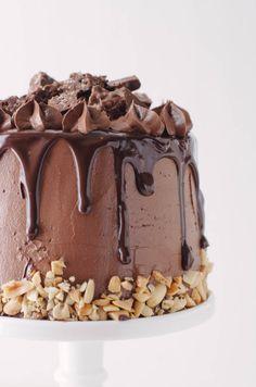 crack layer brownie cake