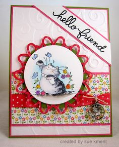 Sue's Stamping Stuff: WOYW?W #204 Penny Black cards