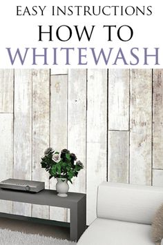 Learn how to whitewash furniture and wood projects correctly with this great tutorial