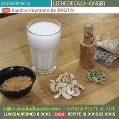 Brota! bolsas para leches vegetales y germinados: Estuvimos en Ensalada Verde compartiendo una recet...