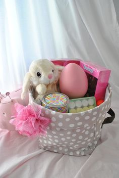 Mini Utility Bin as an Easter Basket