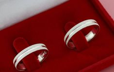 Par Alianças compromisso Prata diamantadas 4mm no Elo7 | Prata de Lua (CDBA23)