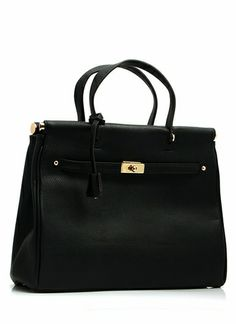 Trapezoid Shaped Faux Leather Bag
