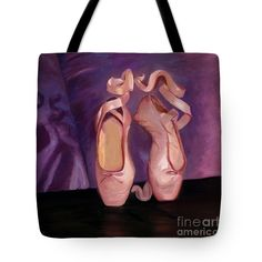 "On Toe - Mirror Image By Marilyn Nolan- Johnson Tote Bag (18"" x 18"") by Marilyn Nolan-Johnson.  The tote bag is machine washable, available in three different sizes, and includes a black strap for easy carrying on your shoulder.  All totes are available for worldwide shipping and include a money-back guarantee."