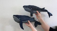 DIY whale out of jeans!