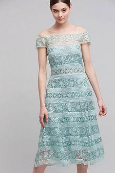 Elise Lace Off-The-Shoulder Dress, Mint