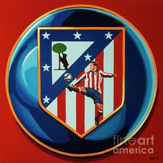 Atletico Madrid Painting by Paul Meijering