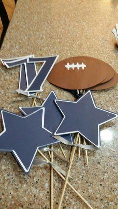 Dallas Cowboys birthday party decor