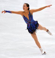 Mao Asada, 2013 Japan Open,  Blue Figure Skating / Ice Skating dress inspiration for Sk8 Gr8 Designs